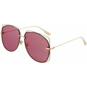 Dior Sunglasses Gold w/Pink Lens Women